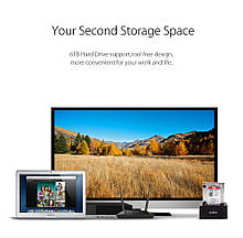 """Док станція для 2,5"""" і 3,5"""" дюймового жорсткого диска HDD / SSD SATA USB 3.0 з адаптером живлення 12 в"""