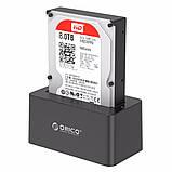 """Док станція для 2,5"""" і 3,5"""" дюймового жорсткого диска HDD / SSD SATA USB 3.0 з адаптером живлення 12 в, фото 9"""
