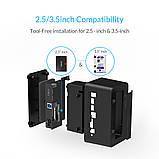 """Док станція для 2,5"""" і 3,5"""" дюймового жорсткого диска HDD / SSD SATA USB 3.0 з адаптером живлення 12 в, фото 10"""