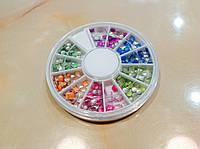 Цветные металические минизаклепки , карусель