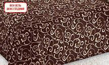Полуторний підодіяльник з бязі - Вензель шоколадний