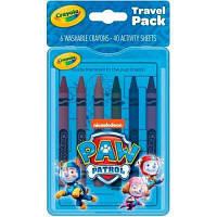 Набор для творчества Crayola Paw Patrol с раскрасками и смываемыми восковыми мелками (04-0437)
