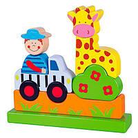 Магнитный пазл Viga Toys Едем в зоопарк (59702), фото 1