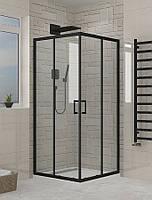 Душевая кабина SANTEH 2210BP 100х100 без поддона, черный профиль, прозрачное стекло