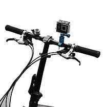 Крепление для gopro hero 5 6 7 8 SJ6000 sj5000 вращается екшн экшен камеры на руль велосипеда метал черная, фото 2