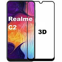 Защитное стекло 3D для Realme C2 (реал ми с2)