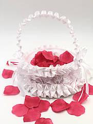 Корзинка для лепестков роз, белая