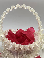 Корзинка для лепестков роз, айвори