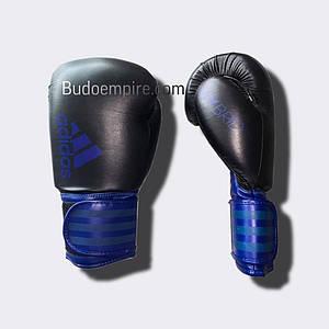 Боксерські рукавички ADIDAS Hybrid 100 (чорно-сині)