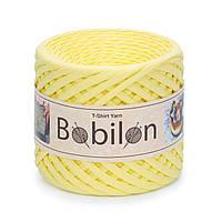 Ленточная пряжа Бобилон Mini (5-7мм). Lemon Лимонный