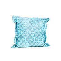 Декоративная подушка Ажур голубая