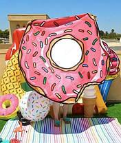 Пляжное парео в виде пончика (Коврик для пляжа), фото 3