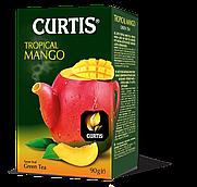 """Чай зеленый байховый листовой со вкусом манго Кертис (Curtis) """"Tropical Mango"""", 90 г"""