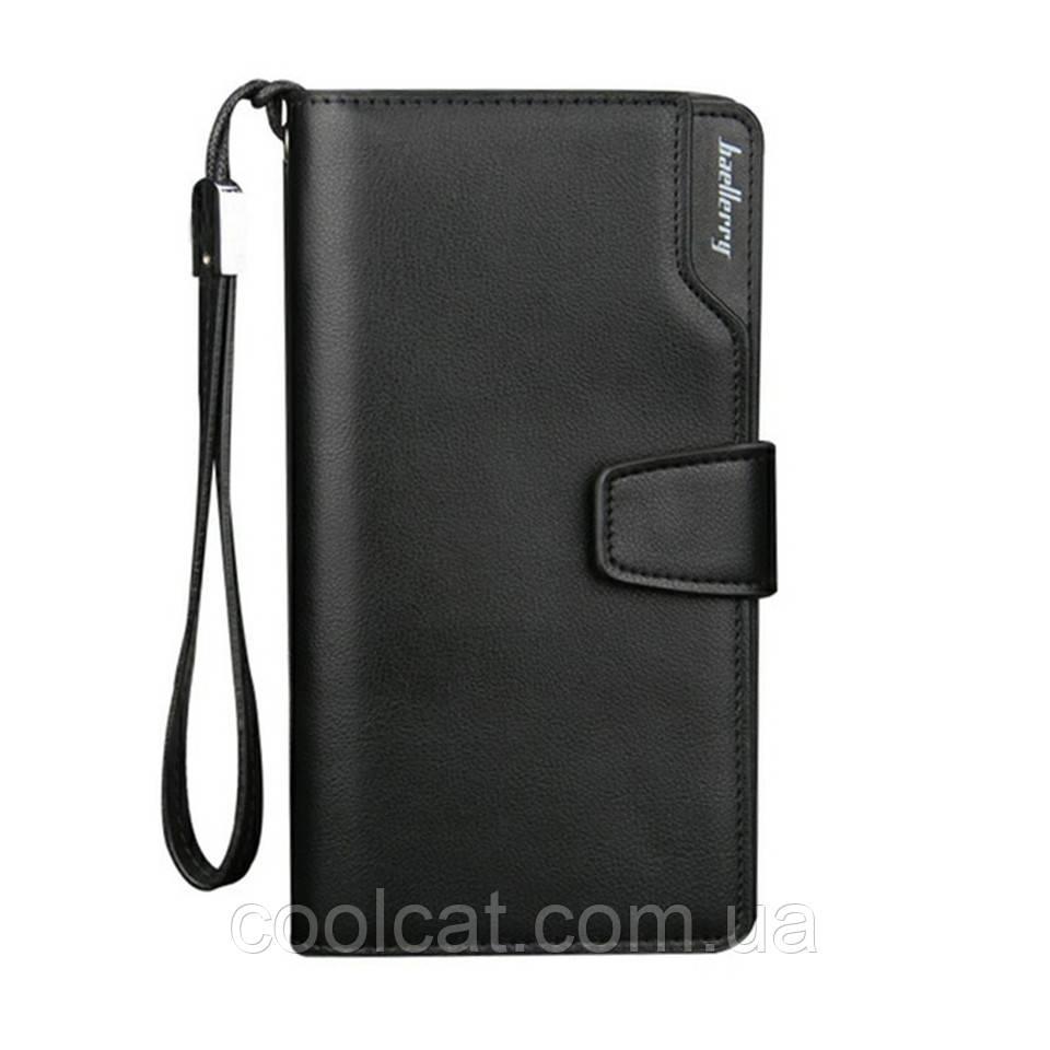 Мужской кошелек + Подарок / Кожаный Baellerry Business (19,5 х 10 х 3 см)