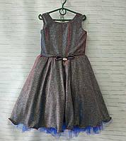 """Детское нарядное платье для девочки """"Блеск"""" 6-8 лет, черного цвета"""
