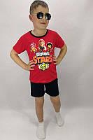 Детский яркий летний костюм на мальчика шорты+футболка