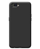 Чехол силиконовый Realme С2 черный (реалми С2)
