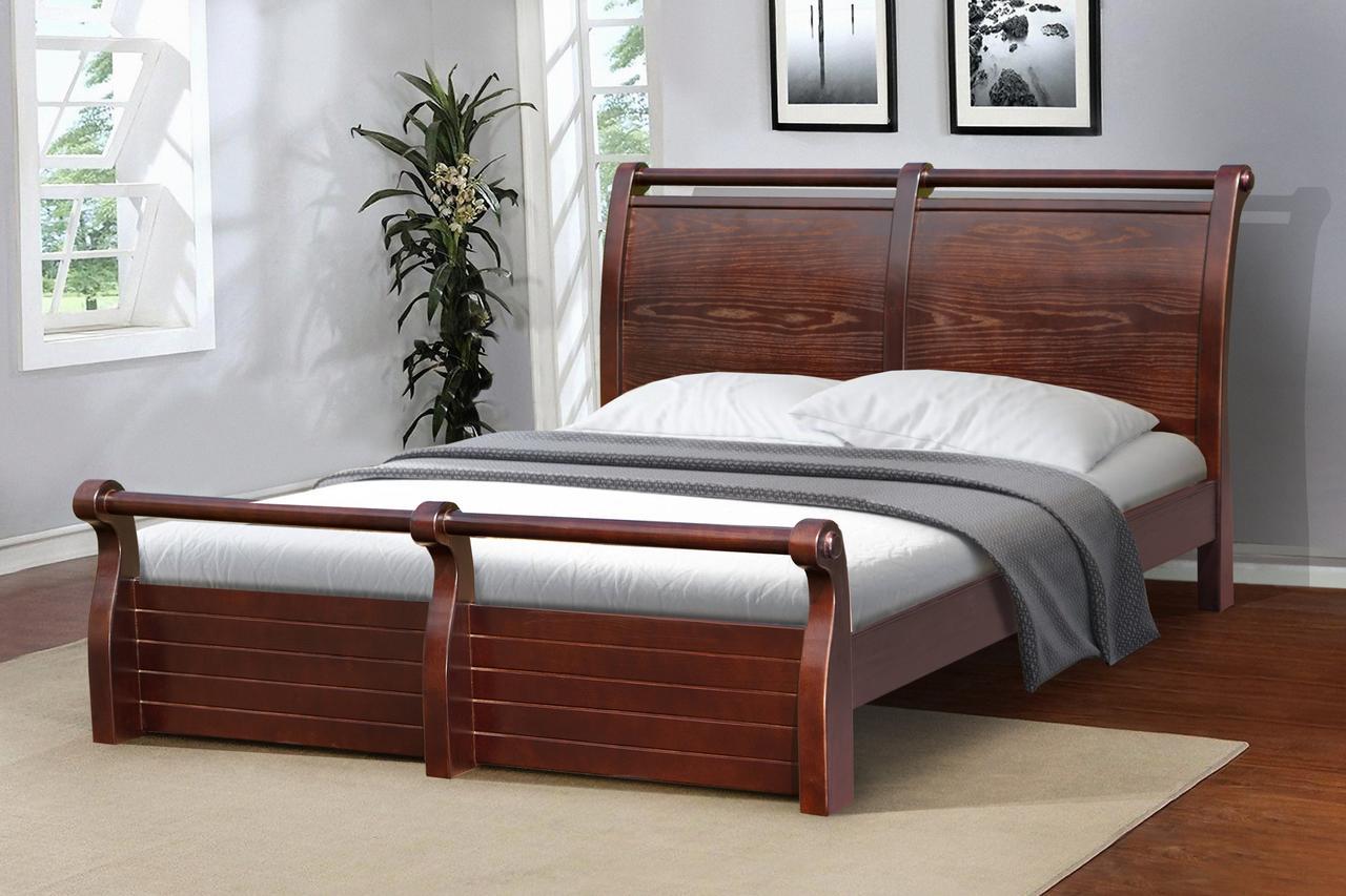 Кровать Сицилия 160-200 см (темный орех)