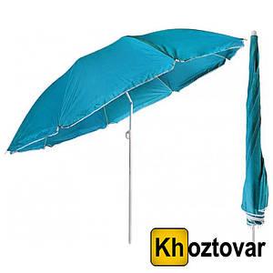 Пляжний зонт складаний з похилим механізмом | Однотонний | 2м