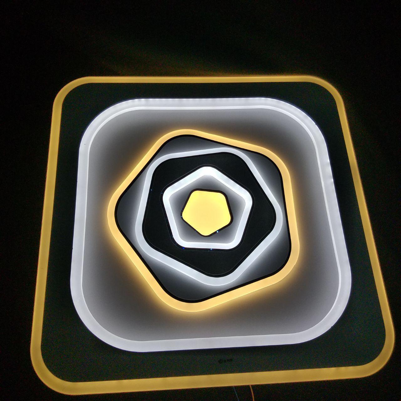 Люстра LED потолочная JLY-1809/4 500*500 102W+102W