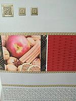 """Шпалери вінілові """"Індія"""" в кухню, червоні з білим, 0,53 Х 10 – Славянские 5524-10"""