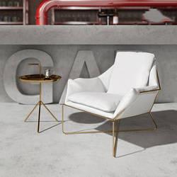 Мягкое кресло с металлической опорой. Модель RD-9014
