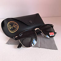 Солнцезащитные очки Ray Ban Clubmaster черный стекло комплект