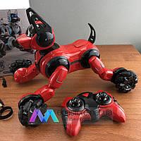 Собака робот на радиоуправлении Stunt Dog интерактивная игрушка для детей детский пультом управления