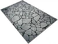 """Придверный текстильный принтованный коврик на резиновой основе """"Камень речной кругляк"""" 450*750, Artimat"""