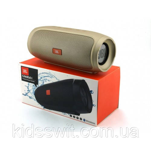 Портативна bluetooth колонка спікер JBL Charge 4 FM, MP3, радіо Золотий