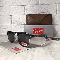 Солнцезащитные очки RAY BAN 3016 Clubmaster черный стекло