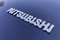 Декоративная наклейка логотип MITSUBISHIна двухстороннем скотче, тюнинг Митсубиши
