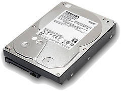 Жесткий диск HDD 3TB Toshiba 7200 SATA3 64Mb (HDWD130)