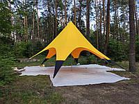 Шатер палатка Звезда, 10 метров, желто-черная. Палатка для отдыха, фото 1