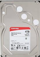 Жесткий диск HDD 4TB Toshiba 7200 SATA3 128Mb (HDWE140UZSVA)
