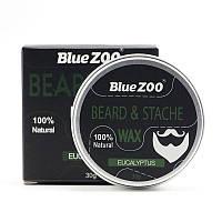 Воск для бороды и усов Средней фиксации Eucaliptus 30мл - Blue ZOO, фото 1