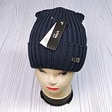 М 94001. Шапка кнопка чоловіча, підліткова зима на флісі, розмір вільний, різні кольори, фото 4