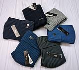 М 94001. Шапка кнопка чоловіча, підліткова зима на флісі, розмір вільний, різні кольори, фото 8