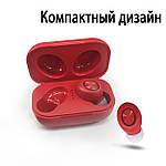Бездротові навушники блютуз гарнітура Bluetooth 5.0 навушники Wi-pods DX33 з зарядним кейсом Оригінал. Червоні, фото 2