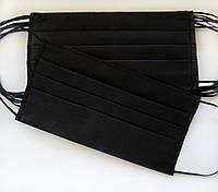 Маски медицинские трехслойные черные (50 шт в упаковке)