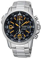 Мужские часы Seiko SSC077P1 Solar Alarm Chronograph