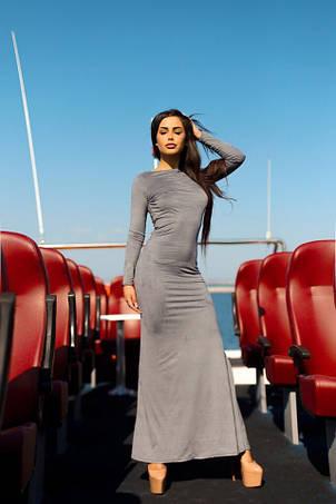 Платье в пол замша на спине паутина , фото 2
