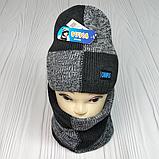 """М 94059. Комплект для хлопчика шапка на флісі і баф """"CAMPUS"""", кольори на фото ( 3-10 років), фото 5"""