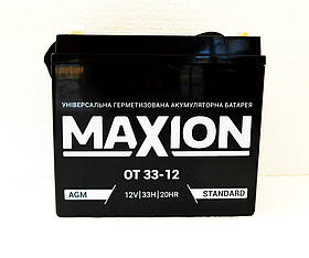 Акумулятор промисловий MAXION 12V 33 Ah