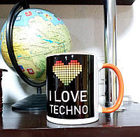 Чашка I love techno