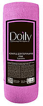 Воротнички для парикмахеров эластичные Doily® ( 5 рул /100 шт в рулоне) бумажныеЦвет: розовый