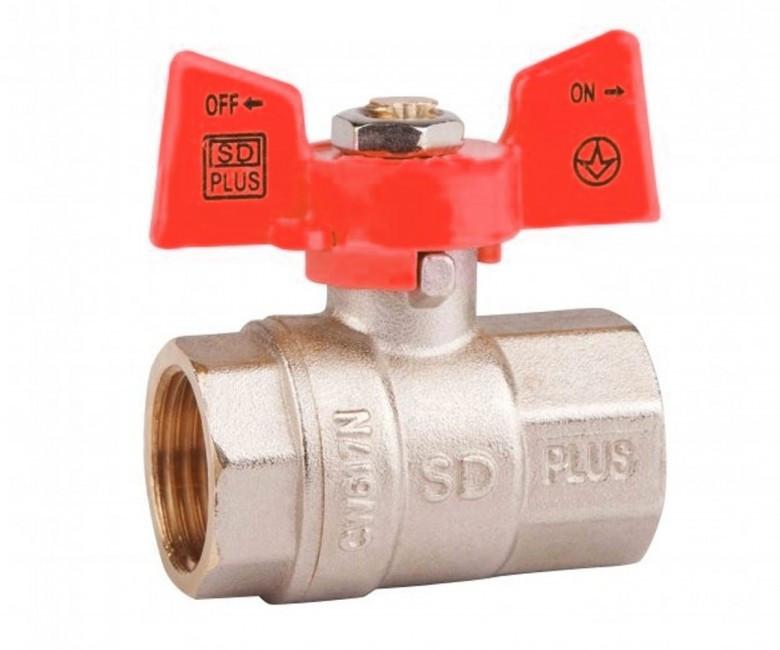 """Кран шаровый  1"""" БГГ (вода) PN40  SD Plus"""