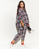 Женский костюм двойка штаны и кофта свободного фасона коттон стрейч принт клетка размер:50,52,54,56, фото 9