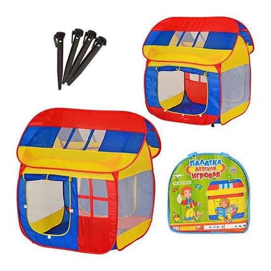 Палатка Bambi Домик детская игровая 110х92х114 см Разноцветный