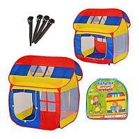 Намет Bambi Будиночок дитяча ігрова 110х92х114 см Різнобарвний